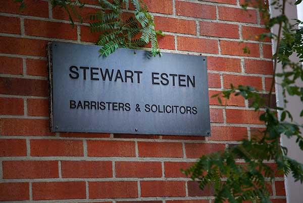 Stewart Esten law sign