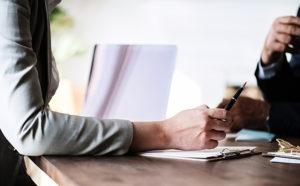 Estate lawyer updating an estate plan