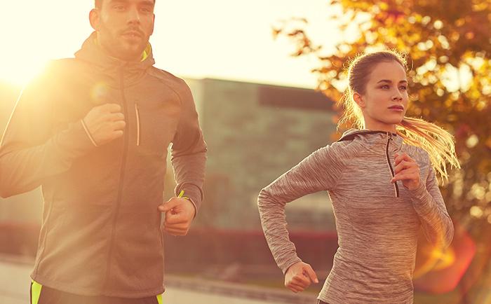 Common-Law couple jogging